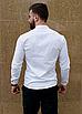 Стильная белая рубашка с коротким воротом, фото 6