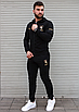 Чорний спортивний костюм чоловічий з капюшоном Puma Ferrari   двухнить, фото 2