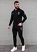 Чорний спортивний костюм чоловічий з капюшоном Puma Ferrari   двухнить, фото 3