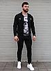 Чорний спортивний костюм чоловічий з капюшоном Puma Ferrari   двухнить, фото 4