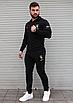 Чорний спортивний костюм чоловічий з капюшоном Puma Ferrari   двухнить, фото 5