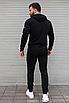 Чорний спортивний костюм чоловічий з капюшоном Puma Ferrari   двухнить, фото 6