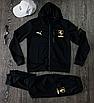 Чорний спортивний костюм чоловічий з капюшоном Puma Ferrari   двухнить, фото 7