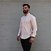 Стильная мужская льняная рубашка , воротник стойка, фото 4