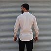Стильная мужская льняная рубашка , воротник стойка, фото 5