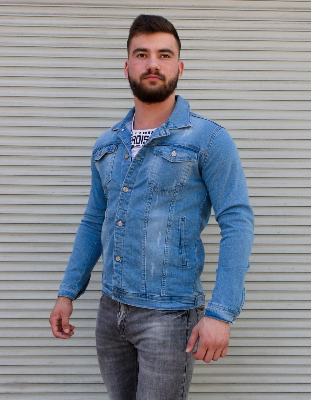 Блакитна джинсова куртка на гудзиках | Туреччина | 100% бавовна