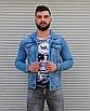 Блакитна джинсова куртка на гудзиках | Туреччина | 100% бавовна, фото 4