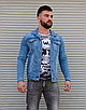 Блакитна джинсова куртка на гудзиках | Туреччина | 100% бавовна, фото 5