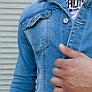 Блакитна джинсова куртка на гудзиках | Туреччина | 100% бавовна, фото 7