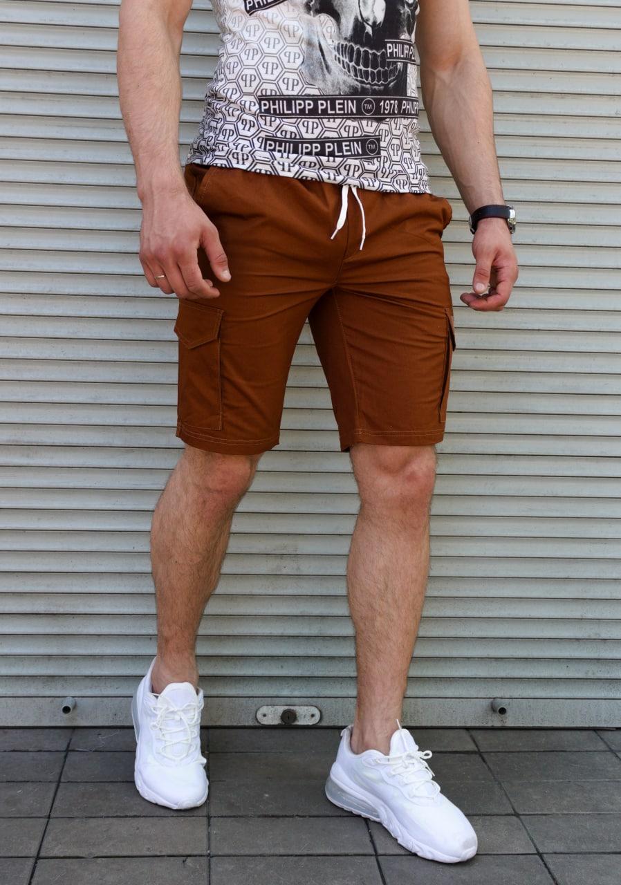Чоловічі шорти коричневого кольору коттон