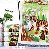 Банний рушник велюр-махра Тигр