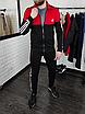 Мужской спортивный костюм Adidas без капюшона , штаны на манжетах, фото 3