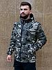 Камуфляжна чоловіча куркта з капюшоном з щільної бавовняної тканини з просоченням   100% бавовна, фото 3