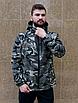 Камуфляжна чоловіча куркта з капюшоном з щільної бавовняної тканини з просоченням   100% бавовна, фото 4