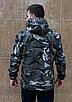 Камуфляжна чоловіча куркта з капюшоном з щільної бавовняної тканини з просоченням   100% бавовна, фото 7