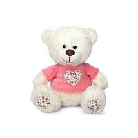 Мягкая игрушка Медвежонок Семми в Кофточке с Декоративным Сердечком (музыкальная, 18 см). LAVA (LA8733J)