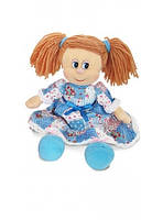 Мягкая игрушка Кукла Варенька в ситцевом платье (музыкальная, 22 см), LAVA (LF961B-2)