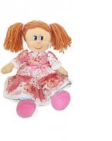 Мягкая игрушка Кукла Варенька в ситцевом платье (музыкальная, 22 см), LAVA (LF961B-1)