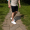 Темно-сині чоловічі шорти під ремінь | 100% бавовна, фото 9
