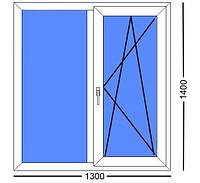 Окно 1300Х1400, профиль VIKRA 5 (пятикамерный)