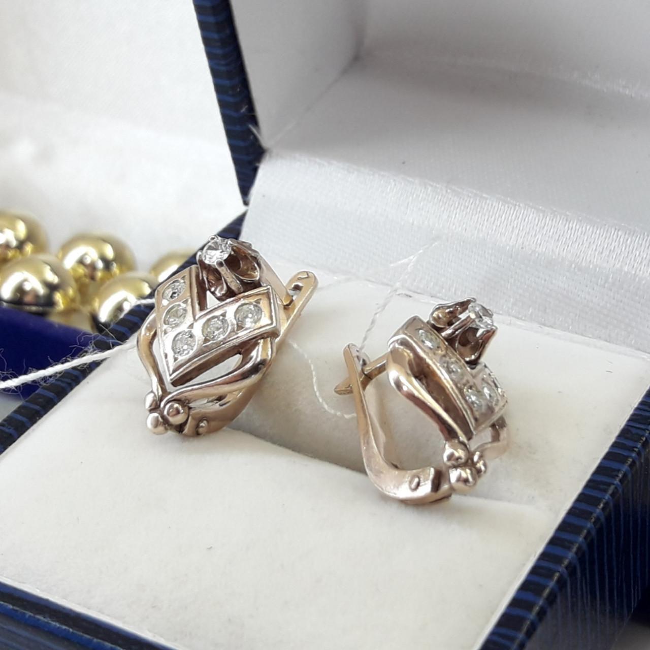 Класичні срібні сережки в позолоті