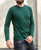 Реглан, лонгслив мужской, футболка с длинным рукавом Hector однотонный зеленый, фото 1