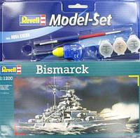 Model Set Линейный корабль (1939-1941гг., Германия) Bismarck 1:1200, Revell (65802)