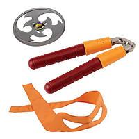 Набор игрушечного звукового оружия Черепашки-ниндзя Микеланджело (нунчаки, сюрикен, бандана), TMNT (92103)