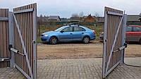 Распашные уличные ворота