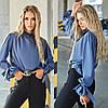 Женская нарядная прямая блузка джинс