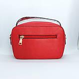 Гарна жіноча клатч сумка Червона, фото 3