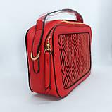Гарна жіноча клатч сумка Червона, фото 4
