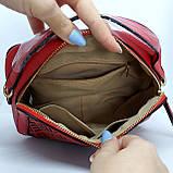Гарна жіноча клатч сумка Червона, фото 5