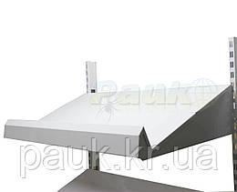 Металлическая овощная полка Ристел 1200 мм, полка на овощной стеллаж под ящики