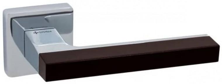 Ручки дверные System Azur RO11 CBMX-CBMX/AL6 матовый хром/ черный