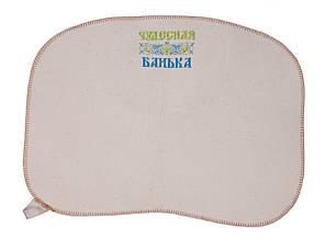 Коврик для сауны (светло-серый) с вышивкой, Saunapro
