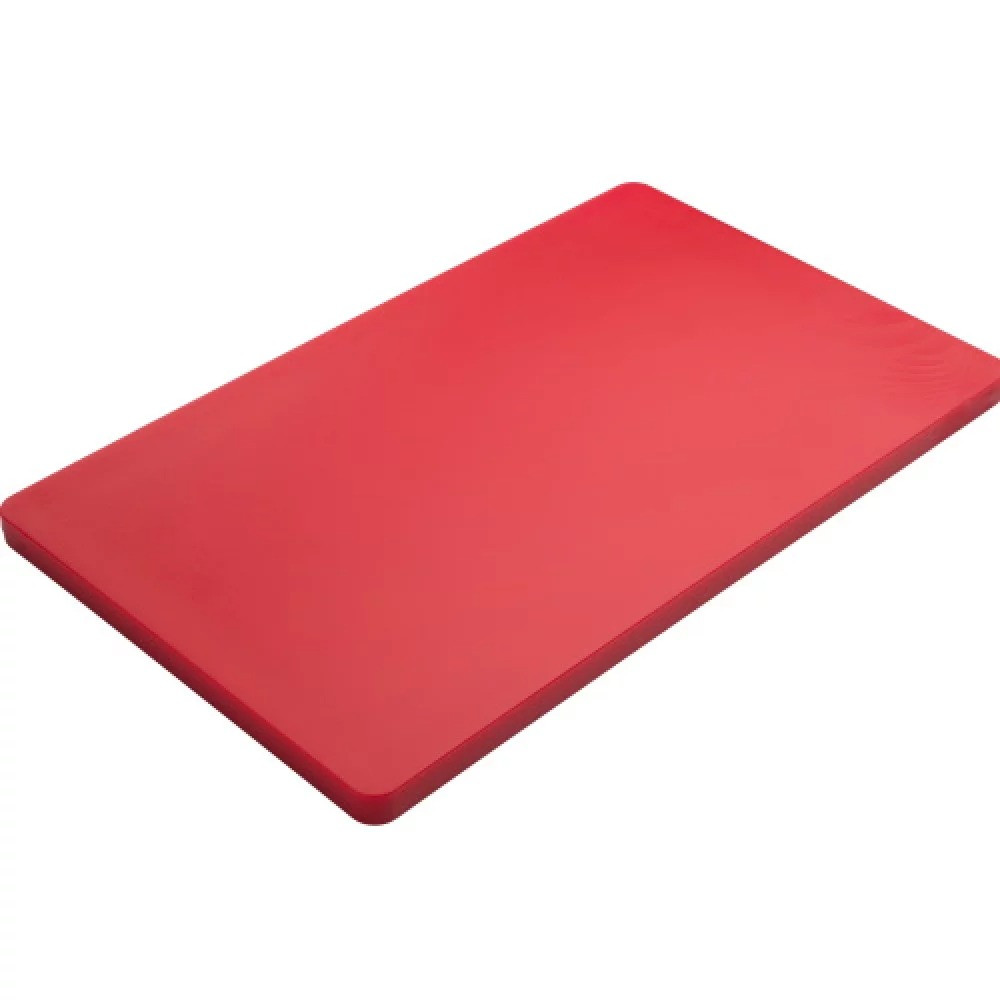 Доска кухонная FoREST Basic Line красная 50х30 см h2 см пластик, Разделочная доска пластик, Доска для нарезки