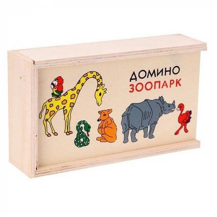 Доміно дитяче дерев'яне доміно зоопарк