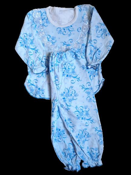 Пижамы детскиедля девочек на байке хлопок размер 56,64.От 4шт по 49грн