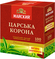Чай черный Майский Царська корона , 100 пак