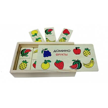 Доміно дитяче дерев'яне фрукти