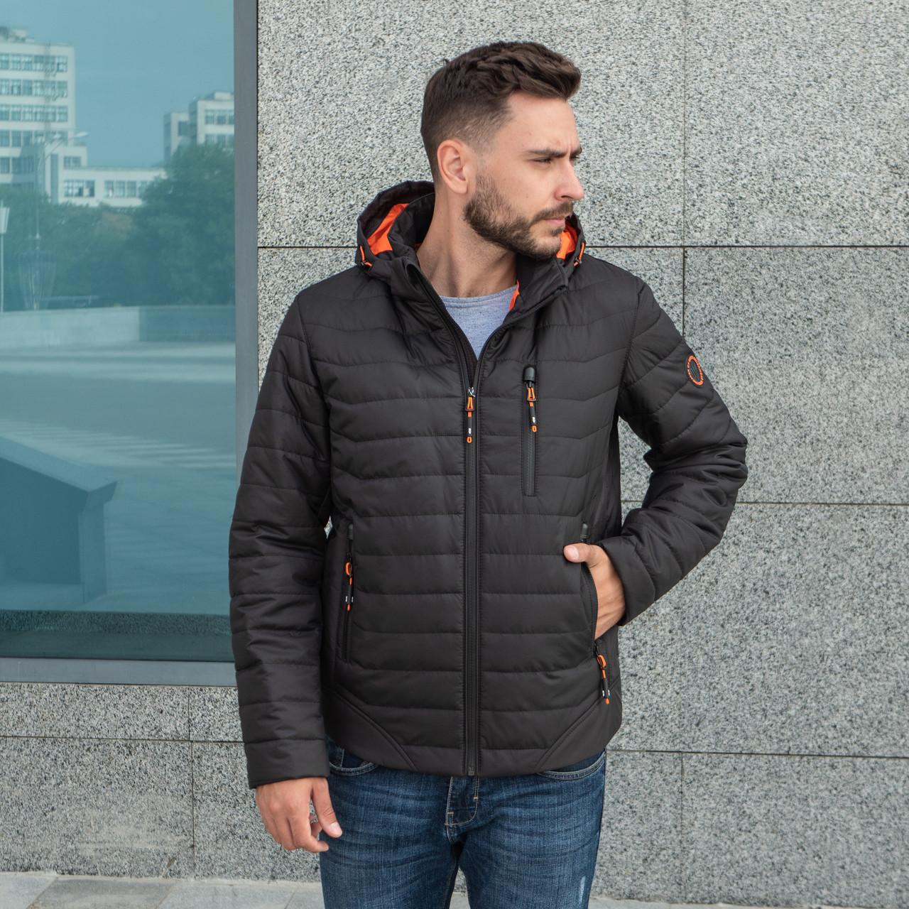 Куртки чоловічі осінні великого розміру 48-66 чорний