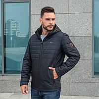 Куртки мужские осенние модные 48-64 темно-синий