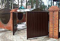 Распашные пленочные ворота