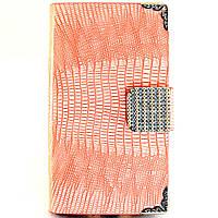 Чехол-книжка для Samsung Galaxy Note 2, N7100, со стразами, боковая, Оранжевая /flip case/флип кейс /самсунг, фото 1