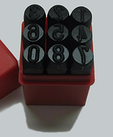 Клейма цифровые , высота шрифта- 3 мм Комплект из 9ти штук.
