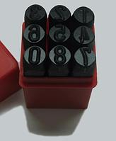 Клейма цифровые , высота шрифта- 4 мм Комплект из 9ти штук.