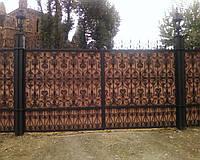 Ворота распашные металлические для дачи