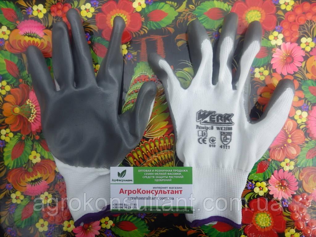 Рабочие перчатки Werk M / р.8 WE2108 с нитриловым покрытием