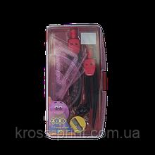 Готовальня SMART 9 предметов (розовый), SMART Line